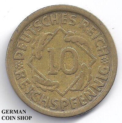 FEHLPRÄGUNG - 1Q statt 10 Reichspfennig 1924 D - SELTEN