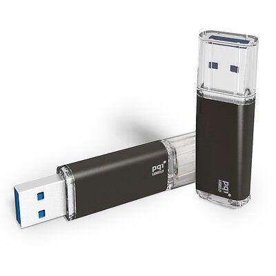 32GB PQI U273V Traveling Disk USB Flash Drive - Black - USB3.0