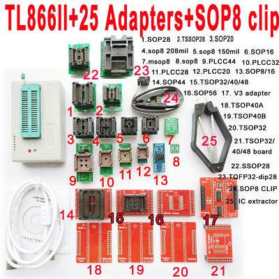 Minipro Tl866ii Programmer 25 Adapter Socket Sop8 Clip Ic Clamp Bios Flash Eprom