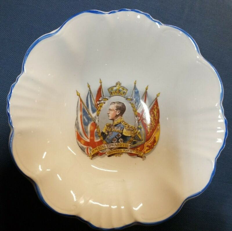 King Edward VIII Coronation Bowl May 1937 Royal Staffordshire Pottery
