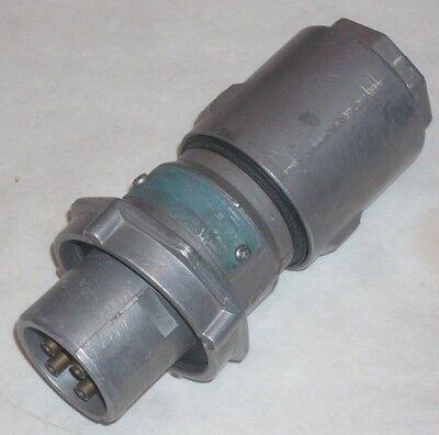 Crouse-Hinds Ark-Tite Electrical Plug APJ3476 4 Prong Female Plug 20 Amp Used