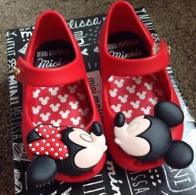 NIB mini Melissa Disney kissing twins red color Size 5 - 100% authentic