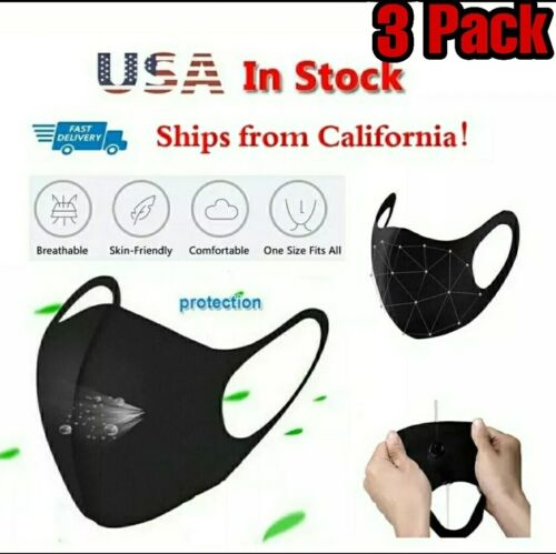 **SALE** 3 PACK Reusable Washable Breathable Waterproof Face Masks
