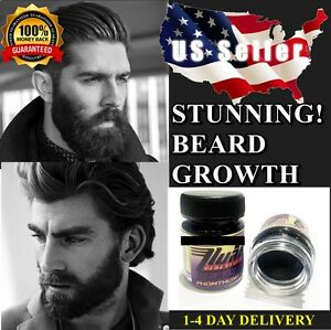 ❤️BLACK PHOMTHONG FACIAL HAIR GROWTH CREAM GROW MUSTACHE BEARD GROWTH SIDEBURNS