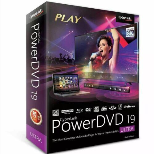 ORIGINAL Cyberlink PowerDVD Ultra19 Full version lifetime activeted key
