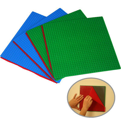 Peel and Stick Baseplates base plates for DIY playing Table Or Wall, green+blue ()