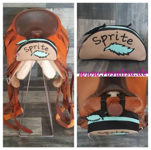 Satteltasche Pferd, Forktasche für Western Sattel, mit Feder