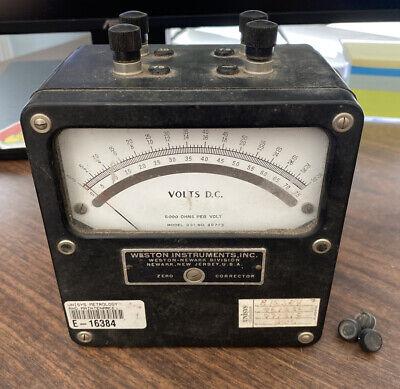 Weston Instruments Amperes Dc Model 931