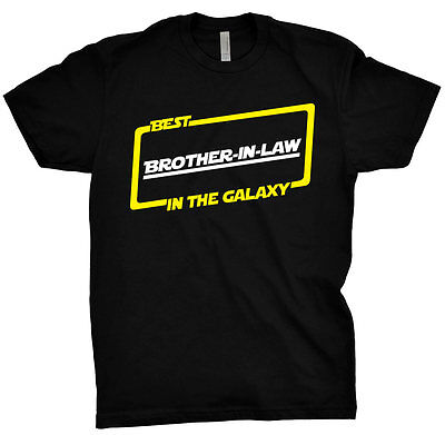 Best Brother In Law In The Galaxy Shirt Gift Tee T Shirt Black T-Shirt