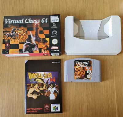 Virtual Chess Nintendo 64 N64 Boxed PAL