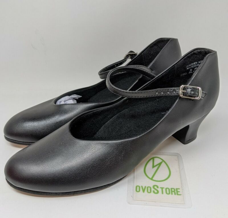 Capezio 550 Junior Footlight stage shoe size 8 M black