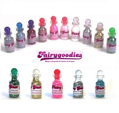 5 Miniature Vials Fairy Dust - Fine Face Body & Nail Glitter - Tested Skin Safe for sale  Shipping to Canada