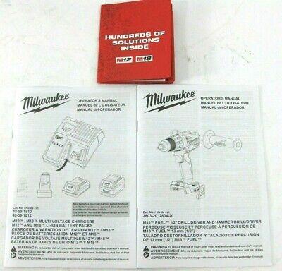 OEM OPERATORS MANUALS for Milwaukee M18 Fuel 1/2