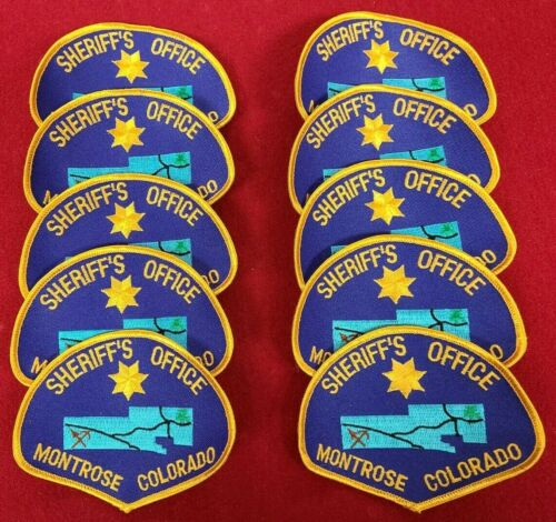 MONTROSE COUNTY COLORADO CO Trade Stock 10 police patches SHERIFF POLICE PATCH