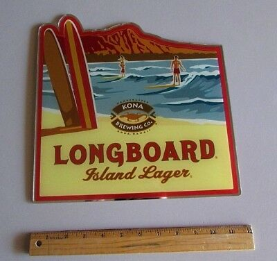 RARE Kona Brewing Long Board Lager Acrylic Mirrored Style Beer sign not tin tap