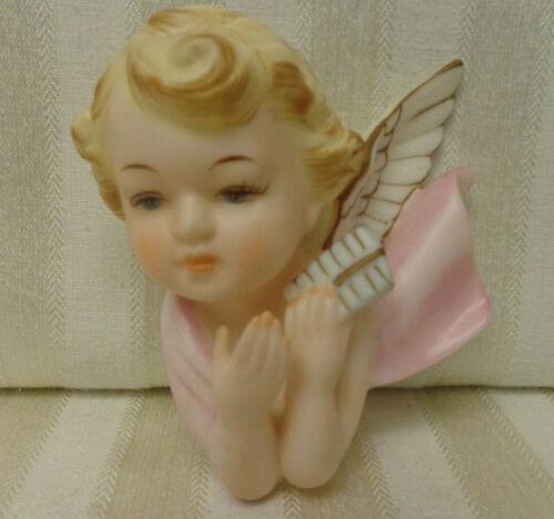 Vintage Napco Ceramic Cherub Angel Wall Hanging