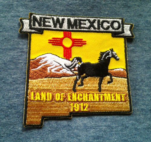 """NEW MEXICO STATE MAP (3-3/8"""") Biker Patch PM6732 EE"""