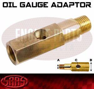 Oil Pressure Gauge Adapter 1/8 NPT Brass SAAS T Piece Sensor Sender Temp