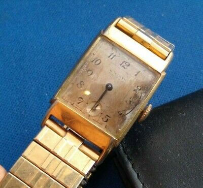 Vintage Waltham Premier Watch 17 Jewels Tank Style 750 movement