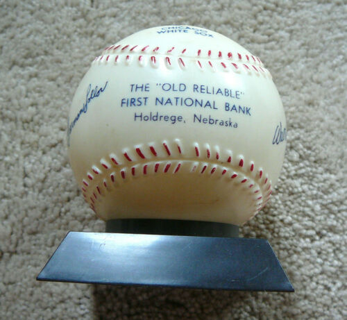 CHICAGO WHITE SOX Vintage 1950s PLASTIC BASEBALL BANK - FIRST NAT