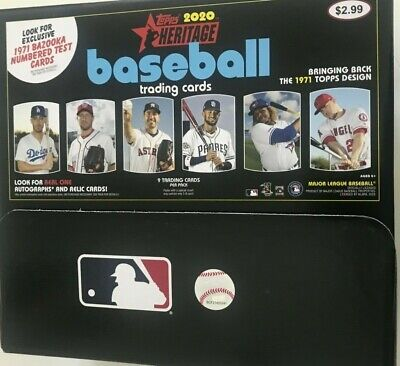 2020 TOPPS HERITAGE BASEBALL GRAVITY FEED BOX  ( 48 PACKS )