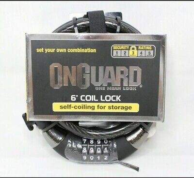 OnGuard 8027 Doberman Cable Lock 15mm X 6 Feet for sale online