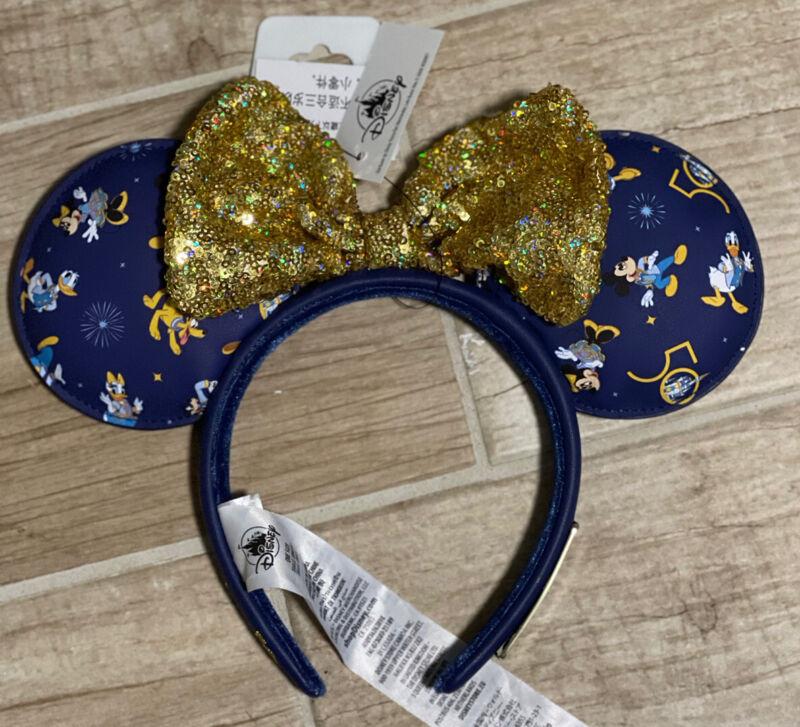 Walt Disney World Parks 50th Anniversary Loungefly Ears Minnie Mouse Headband