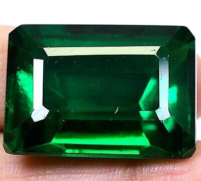 AAA Colombian 63.00Ct Natural Green Emerald Shape Loose Gemstone Certified F3971