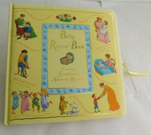 English Nursery Rhymes Baby Record Book Yellow Paragon Publishing Illustrated