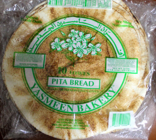 Yasmeen White Pita Bread, Daily Fresh- 4 packages,10 Loaves Each Pack /Ship Free