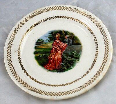 Garden Wall Plate (Limoges Garden Wall Dinner Plate 22K USA Triumph 10 1/4