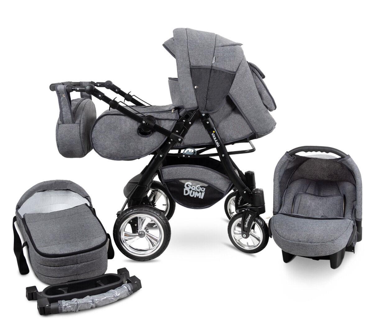 Urbano GaGaDumi Travel System 3in1 Baby Pram Car seat Pushchair Buggy
