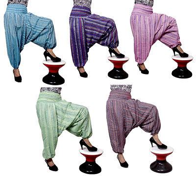 Aladdin Harem Pants Striped Design Boho Hippie Girls Yoga Wholesale Lot 10Pcs