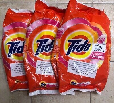5 Tide Ultra Laundry Detergent Powder with downy perfume 370g each Ultra Laundry Powder