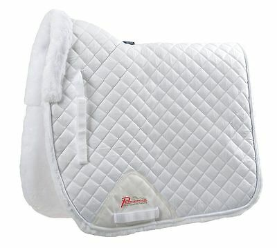 Shires SupaFleece Fleece Lined Dressage Square Saddle Pad - BLACK or WHITE Black Dressage Saddle Pads