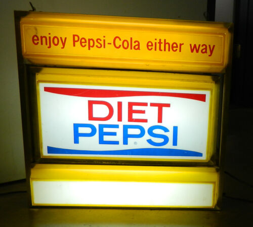 VINTAGE1970S PEPSI-COLA LIGHT-UP ROTATING DINER SIGN