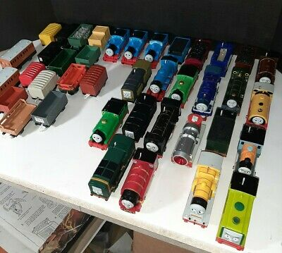 Lot of 19 Motorized Thomas the Trains and Cars Trackmaster Percy Henry 35 pc!
