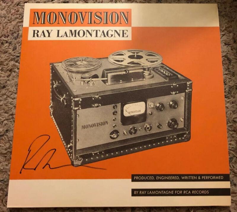 Ray LaMontagne Autographed Monovision Vinyl LP #1