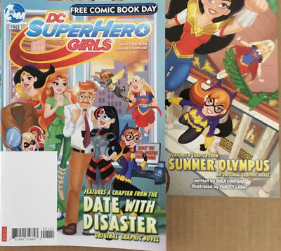 2 Free Comic Book Day Dc Super Hero Girls 2017   2018 Fcbd Superhero Issues