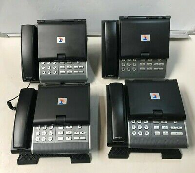 Lot Of 4 Telstra Polycom Vvx 1500 Business Media Phone Used