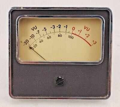 Vintage Vu Meter Level Indicator Panel Mount Ampex Rca Raytheon 3-34 3-38