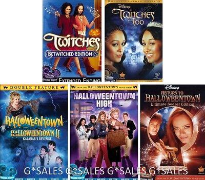 Disney Channel Halloween 6 Movies Twitches 1-2 + Halloweentown 1-4 NEW DVD SETS - Halloweentown 6