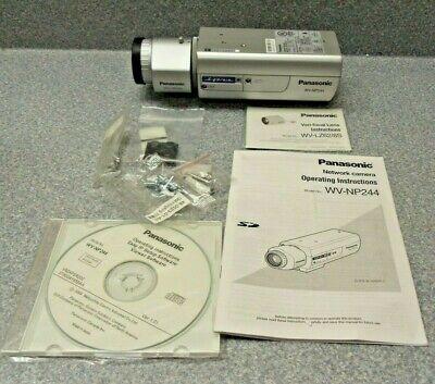 Panasonic Wv-np244 Ip Network Camerawv-lz62-8s Vari-focal Lens New