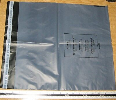 10 x Medium Grey Mail Bags Strong Parcel Sacks approx 370mm x 400mm 14 x 15 A10