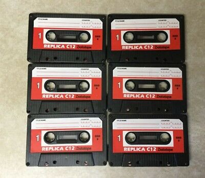 6 x REPLICA C12 BLANK TAPES  PERSONAL COMPUTER CASSETTE NEW CERTIFIED DATA TAPES
