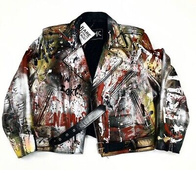 Rare Custom Leather Jacket for sale  Shipping to India