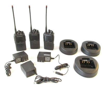 Vertex Standard Vx-261-g7-5 Uhf 450-512 Mhz Radios Set Of 3 Synced-ready To Go