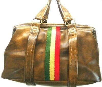 Vintage Lugano Vinyl Switzerland Satchel Tote Doctor Upscale Bag
