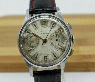 RARE!!! Poljot Strela USSR Military Chronograph 1960's cal 3017 Soviet Watch