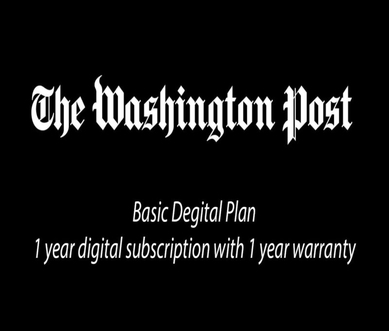 Washington Post 1 Year Basic Digital Subscription Plan
